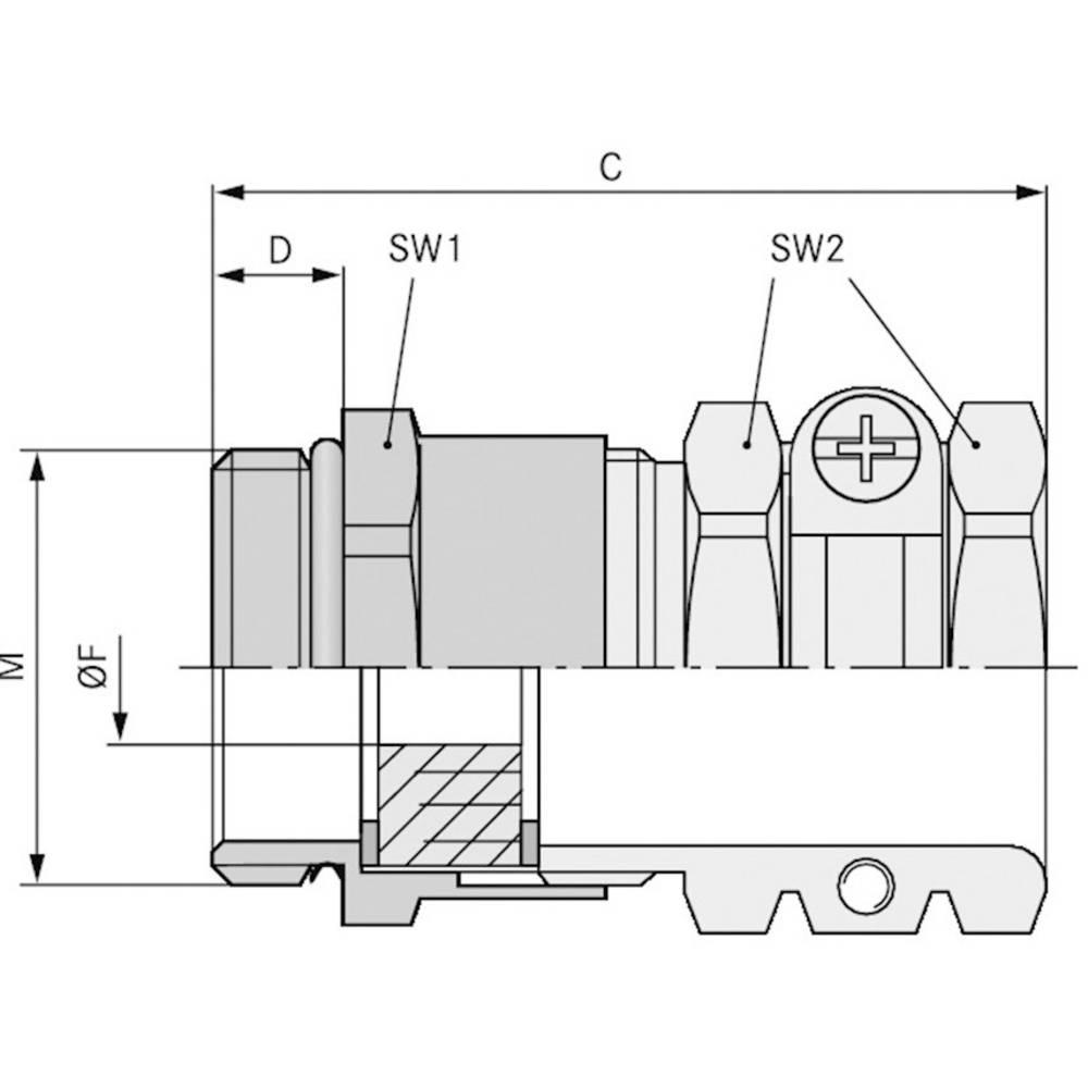 Kabelska uvodnica M40 medenina, naravna barva LappKabel SKINDICHT SHZ-M-XL 40X1,5/36 10 kosov