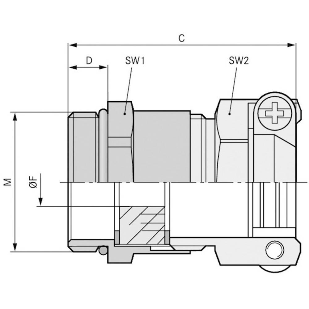 Kabelska uvodnica M20 medenina, naravna barva LappKabel SKINDICHT SKZ-M 20X1,5/13,5 25 kosov