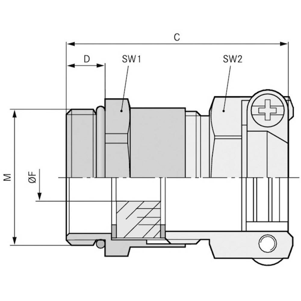 Kabelforskruning LappKabel SKINDICHT® SKZ-M-XL 20X1,5/16 M20 Messing Messing 25 stk