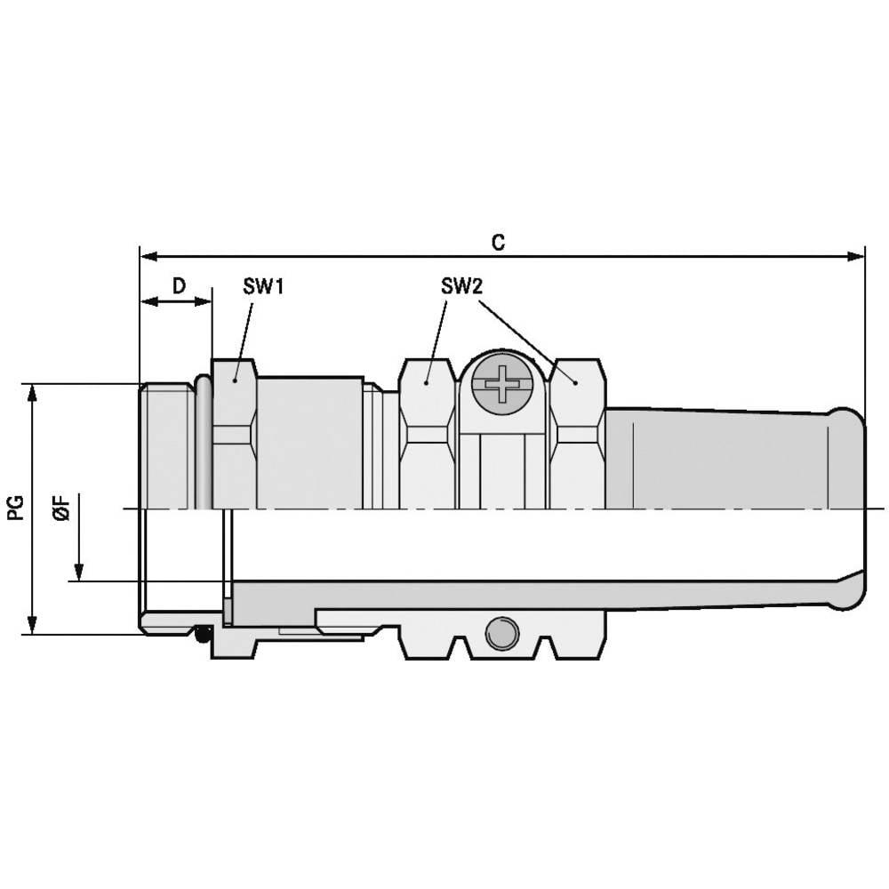 Kabelforskruning LappKabel SKINDICHT® SR PG 16/15 PG16 Messing Messing 25 stk