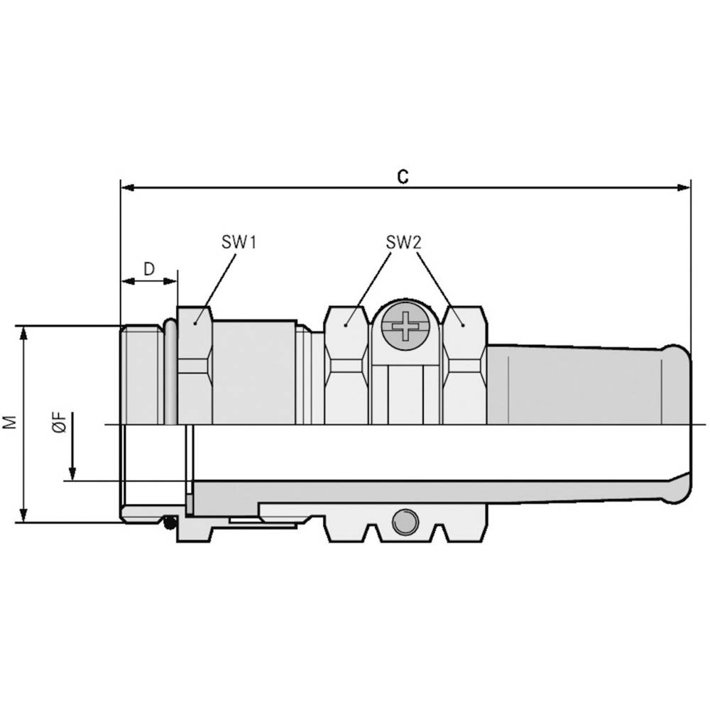 Kabelforskruning LappKabel SKINDICHT® SR-M 40X1,5/36/35 M40 Messing Messing 5 stk