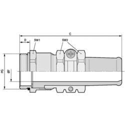 Kabelforskruning LappKabel SKINDICHT® SR-SV PG 11/7 PG11 Messing Messing 25 stk