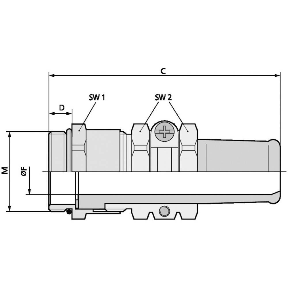 Kabelska uvodnica M20 medenina, naravna barva LappKabel SKINDICHT SR-SV-M 20X1,5/13,5/11 25 kosov