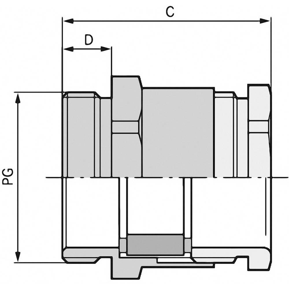 Kabelska uvodnica PG16 medenina, naravna barva LappKabel SKINDICHT SVF PG 16 25 kosov
