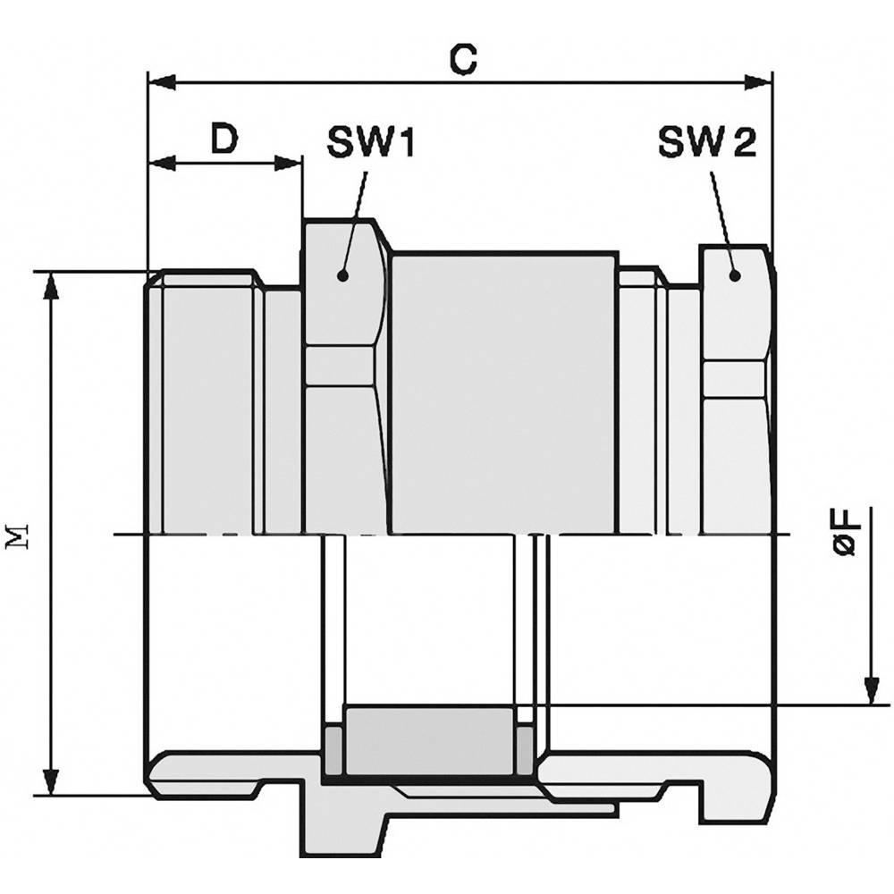 Kabelska uvodnica M63 medenina, naravna barva LappKabel SKINDICHT SVF-M 63X1,5/48 5 kosov