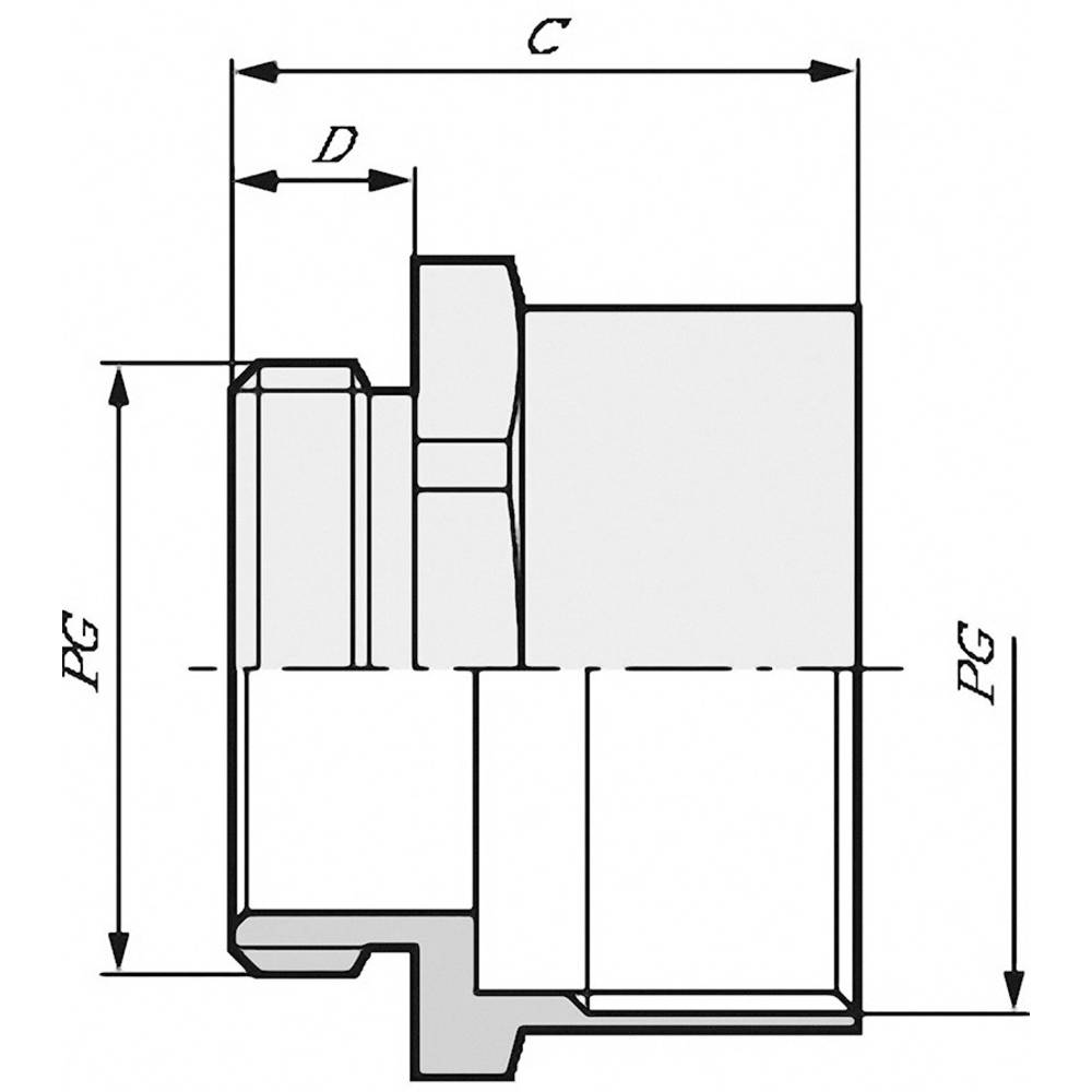 Kabelska uvodnica, podaljšek PG7 PG7 polietilen, medenina LappKabel SKINDICHT ZS PG 7 100 kos