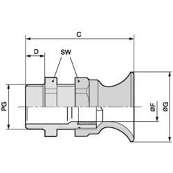 Kabelforskruning LappKabel SKINTOP® BT PG 11 PG11 Polyamid Sølvgrå (RAL 7001) 100 stk