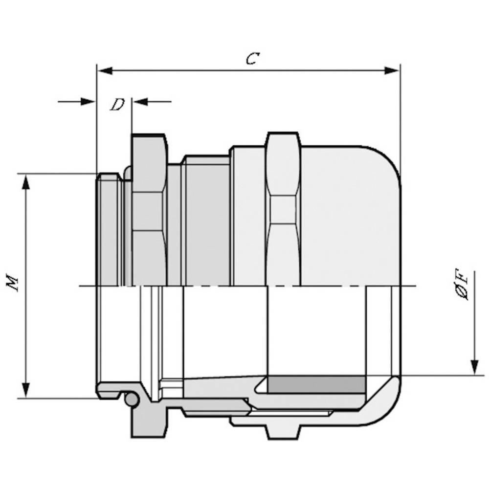 Kabelska uvodnica M25 medenina, naravna barva LappKabel SKINTOP MS-IS-M 25X1,5 25 kosov