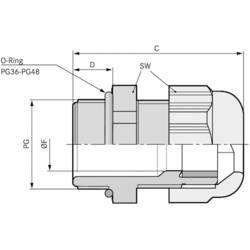 Kabelforskruning LappKabel SKINTOP® ST PG 36 PG36 Polyamid Lysegrå (RAL 7035) 10 stk