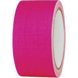 Enostranski lepilni trak iz tkanine 80FL5025PC, (D x Š) 25 m x 50 mm, 80FL5025PC, neonsko rozast, 1 kolut