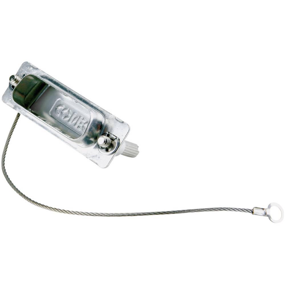 D-SUB zaščitni pokrov Conec 16-000840 srebrne barve 1 kos
