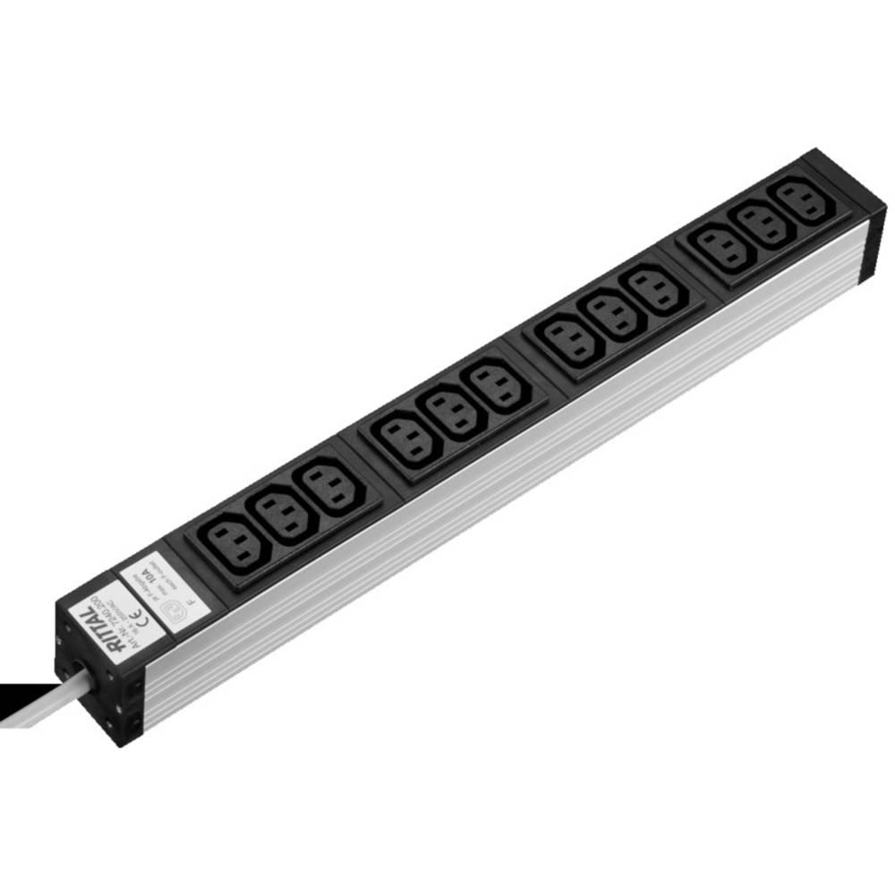 Stikdåseliste Rittal DK 7240.200 7240.200 12-dobbelt Aluminium 1 stk