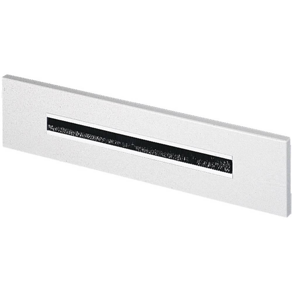 Uvodna plošča za kable, s krtačnim vložkom, jeklena pločevina svetlo siva (RAL 7035) Rittal DK 7705.035 1 kos