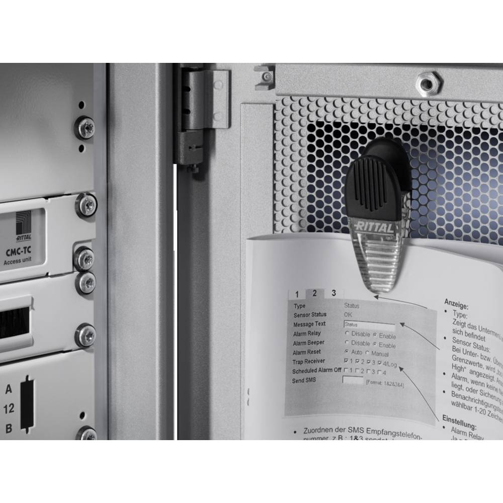 Dokumentklemme Rittal DK 7950.200 magnetisk 2 stk