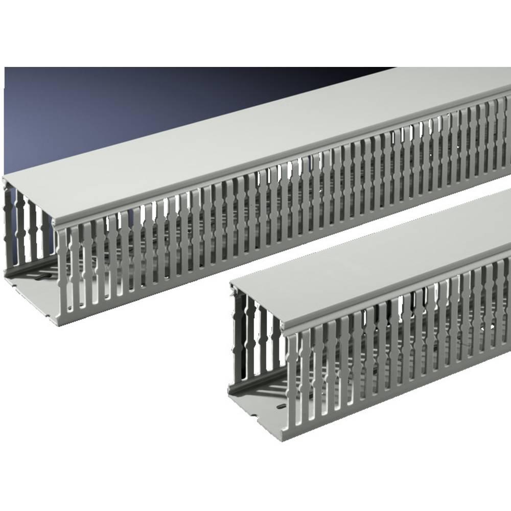 Kabelkanal Rittal TS 8800.751 8800.751 PVC Stengrå (L x B x H) 2000 x 40 x 80 mm 20 stk
