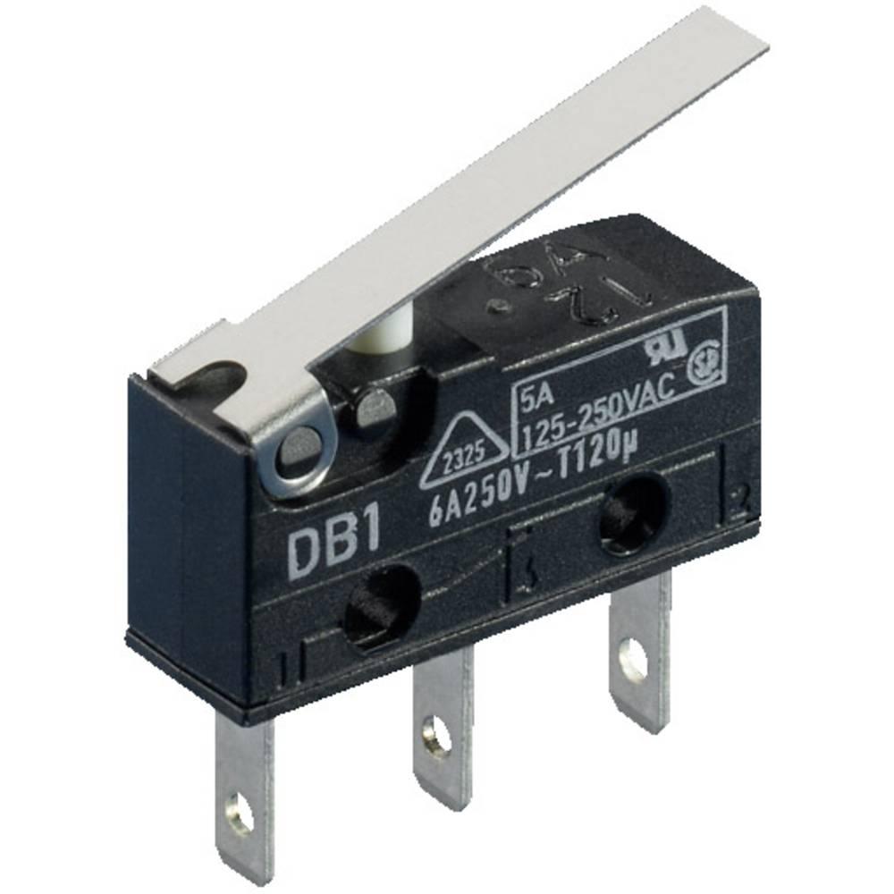 Mikro stikalo, 250 V/AC 6 A 1 x vklop/(vklop) Rittal 9346.400 5 kosov