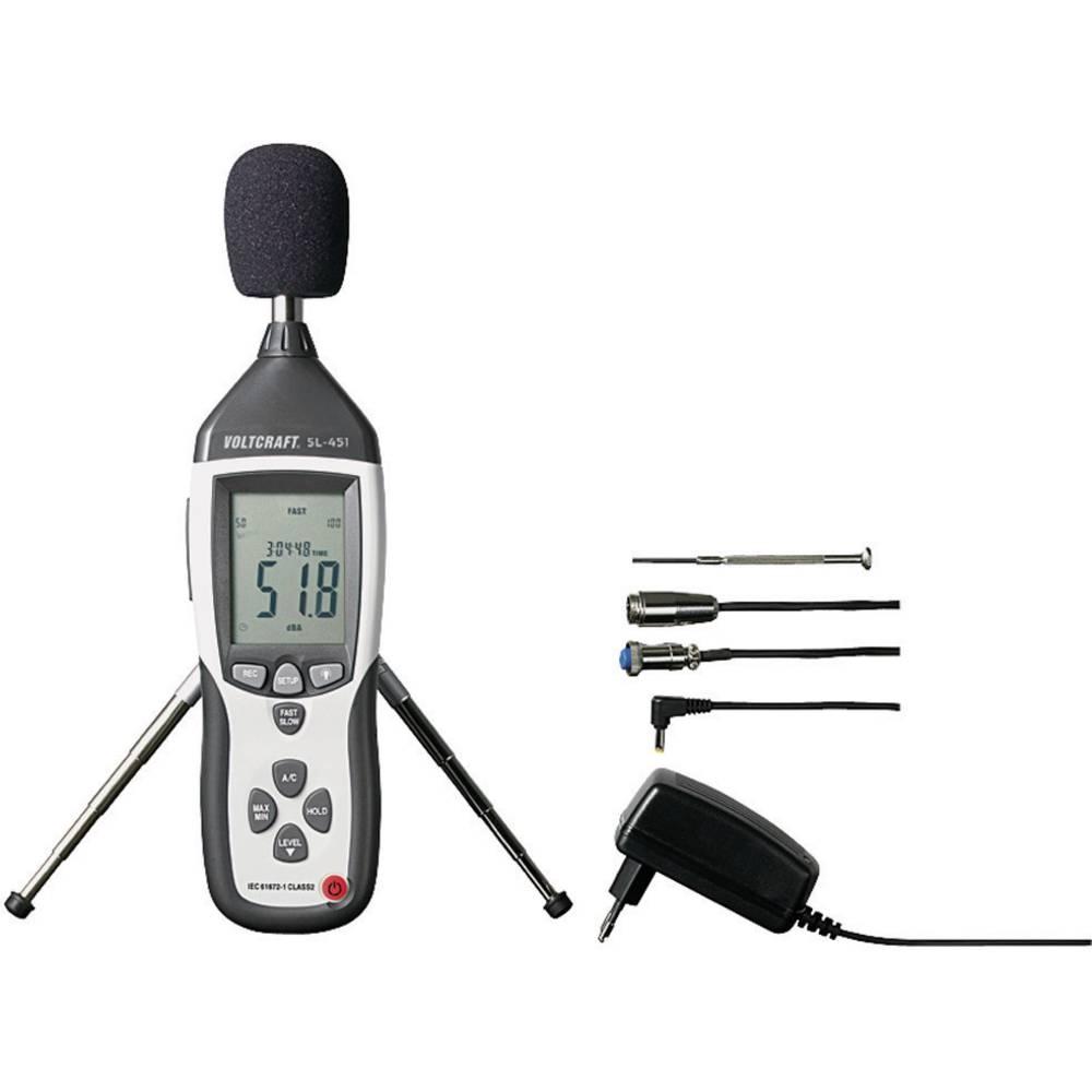 VOLTCRAFT SL-451 merilnik glasnosti, merilnik hrupa 31.5 Hz - 8 kHz kalibracija narejena po ISO