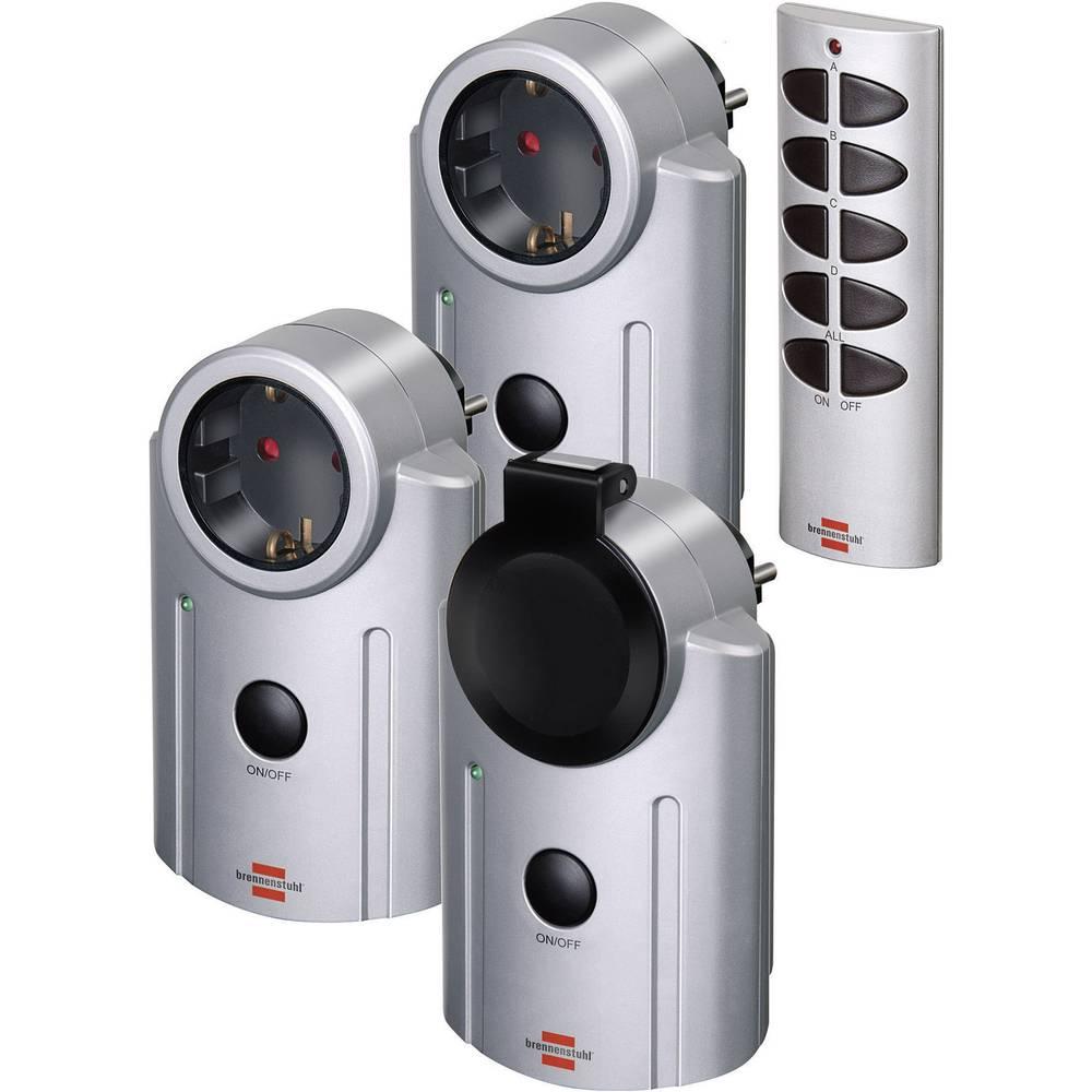 Komplet brezžičnih vtičnic, 4-delni, zunanja uporaba, 3600 W, Brennenstuhl Primera-Line RC-2044 1507670