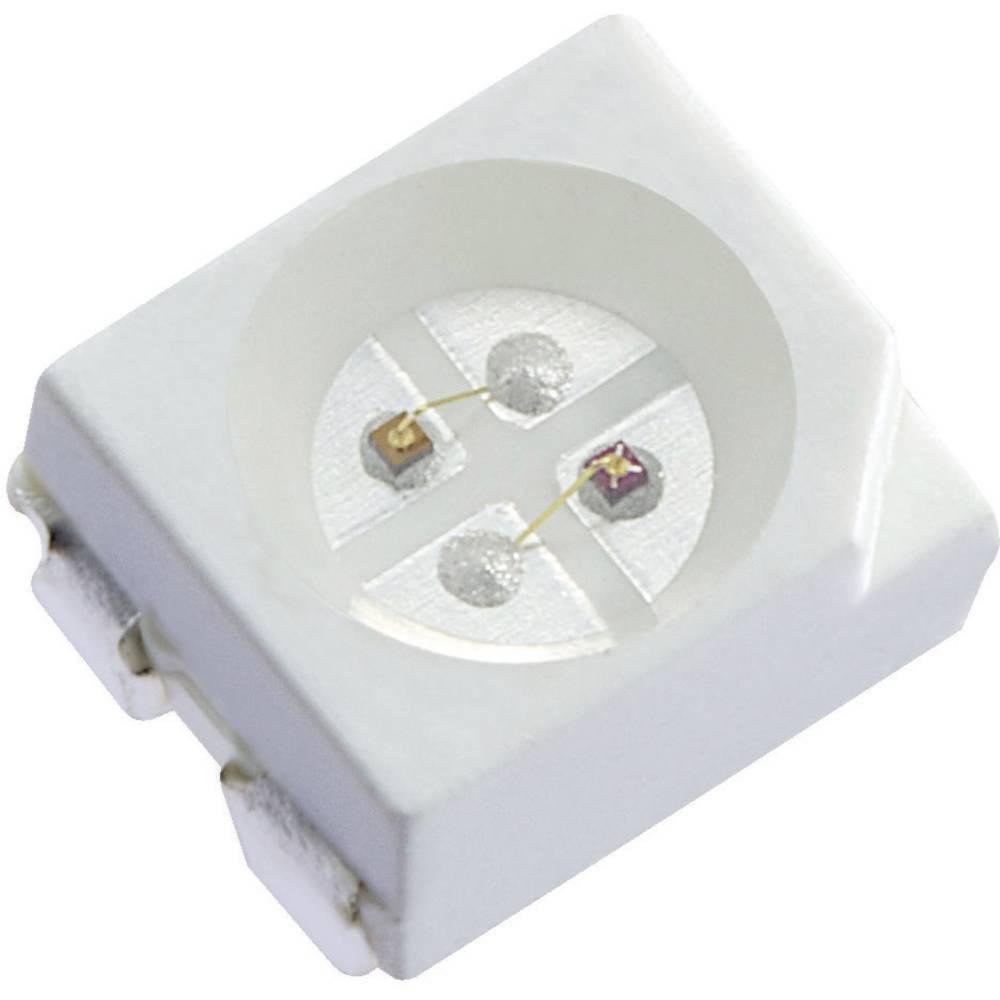SMD-LED večbarvna PLCC4 rdeča, rumena 100 mcd, 240 mcd 120 ° 20 mA 1.95 V, 2 V Kingbright KAA-3528SURKSYKS