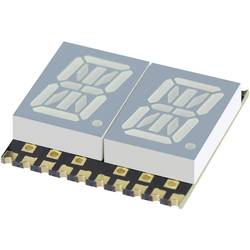 Alfanumerički segmentni prikaz, žuta 10.16 mm 1.95 V broj znamenki: 2 Kingbright KCPDA04-107