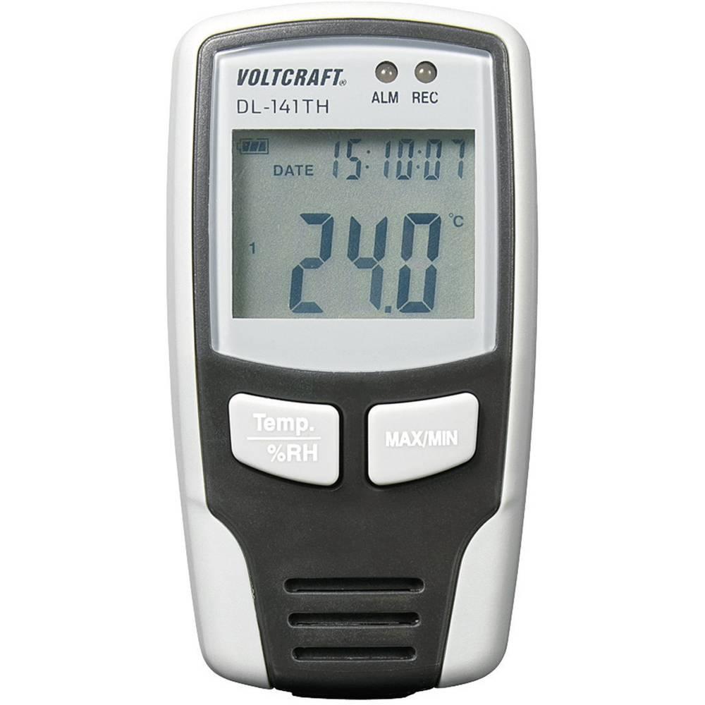 Multi-zapisovalnik podatkov VOLTCRAFT DL-141TH merjenje vlage in temperature -40 do +70 °C 0 do 100 % rF kalibracija narejena po