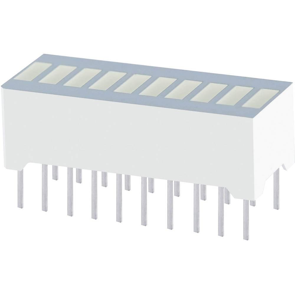 LED grafični prikazovalnik, 10-delni, zelena (Š x V x G) 25.4 x 10.16 x 8 mm Kingbright DC-10CGKWA