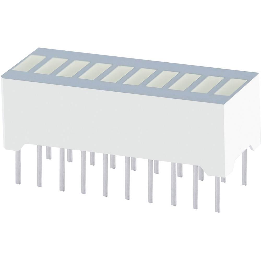 LED grafički pokazivač, 10-dijelni, zelena (Š x V x D) 25.4 x 10.16 x 8 mm Kingbright DC-10CGKWA