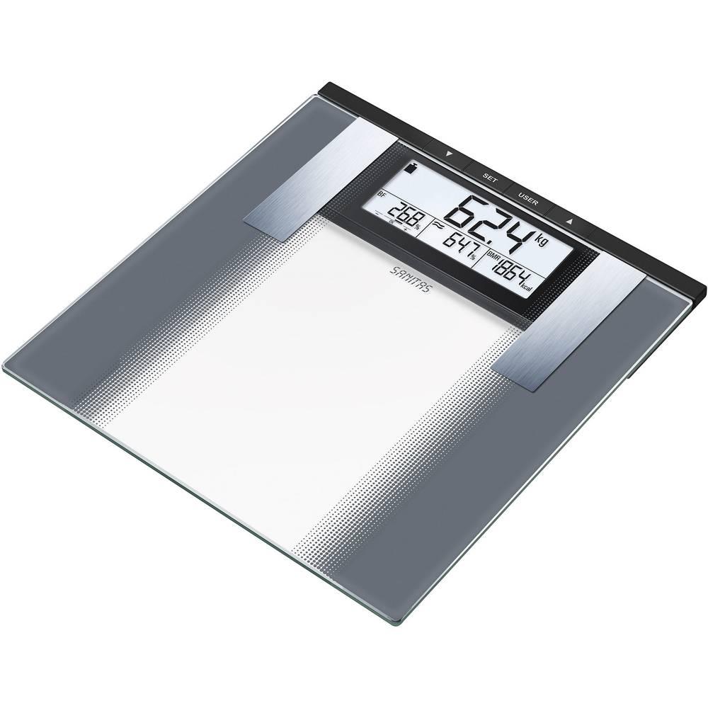 Osobna vaga za tjelesnu analizu Sanitas SBG 21 raspon vage (maks.)=180 kg siva, staklo