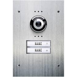 Žični video domofon, zunanja enota m-e modern-electronics VDV 920 2 družinska hiša, legirano jeklo