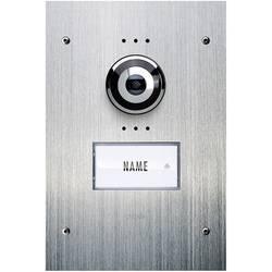 Žični video domofon, zunanja enota m-e modern-electronics VDV 910 1 družinska hiša, legirano jeklo