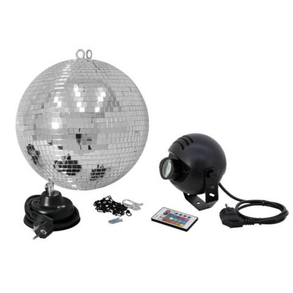 Zrcalna krogla,komplet 30cm z LED-RGB-Spot IR disko krogla 50101862 Eurolite