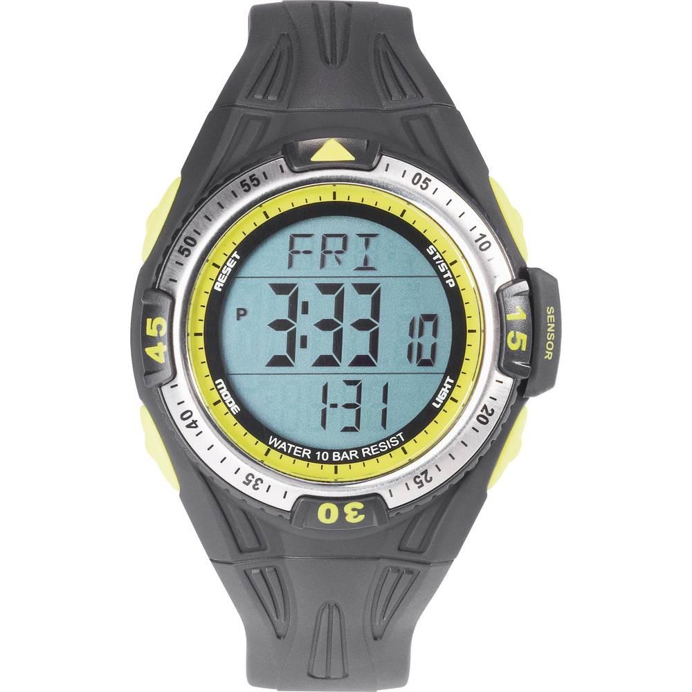 Digitalni ručni sat 0D09016A-03 (Ø x V) 50 mm x 16 mm crna boja, kućište: ABS, materijal narukvice: poliuretan, Renkforce