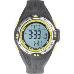 Digitalna zapestna ura 0D09016A-03 (Ø x V) 50 mm x 16 mm črne barve, ohišje: ABS, poliuretanski pašček, Renkforce