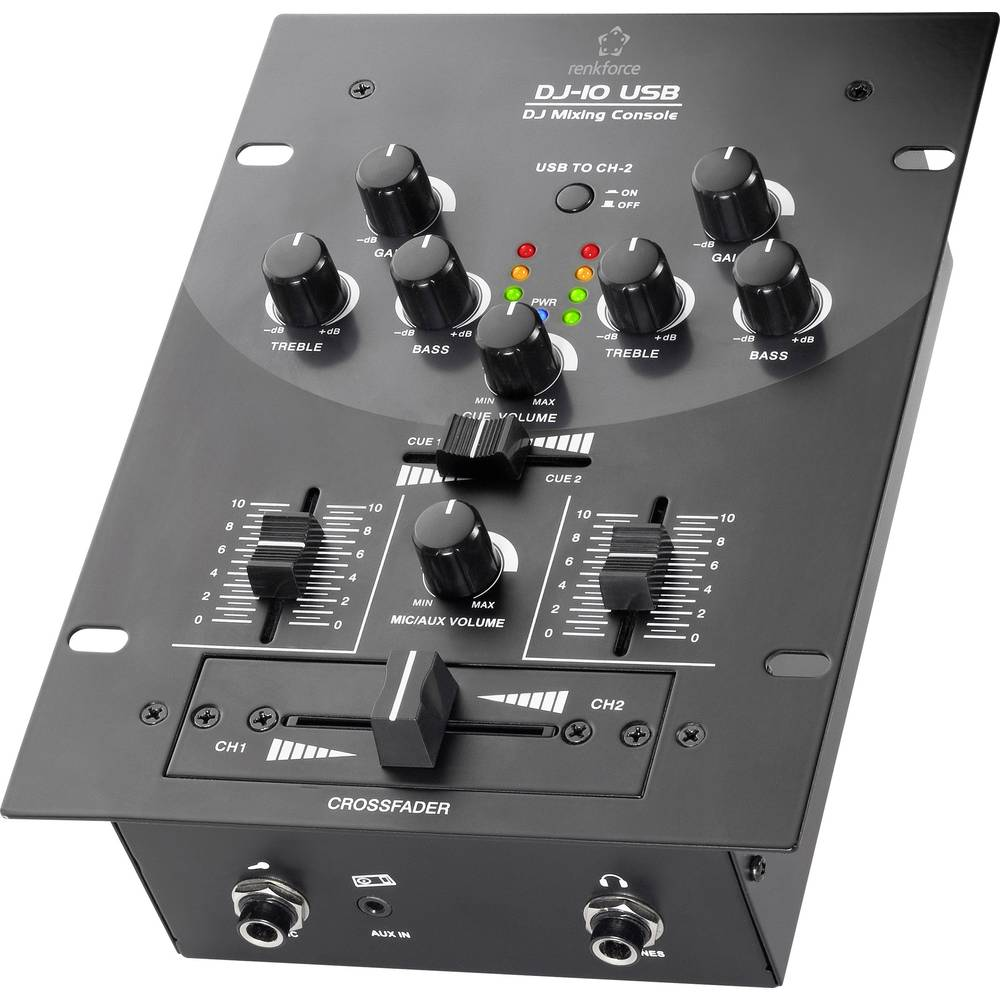 Mešalna miza za DJ-e Renkforce DJ10 USB DJ10+USB