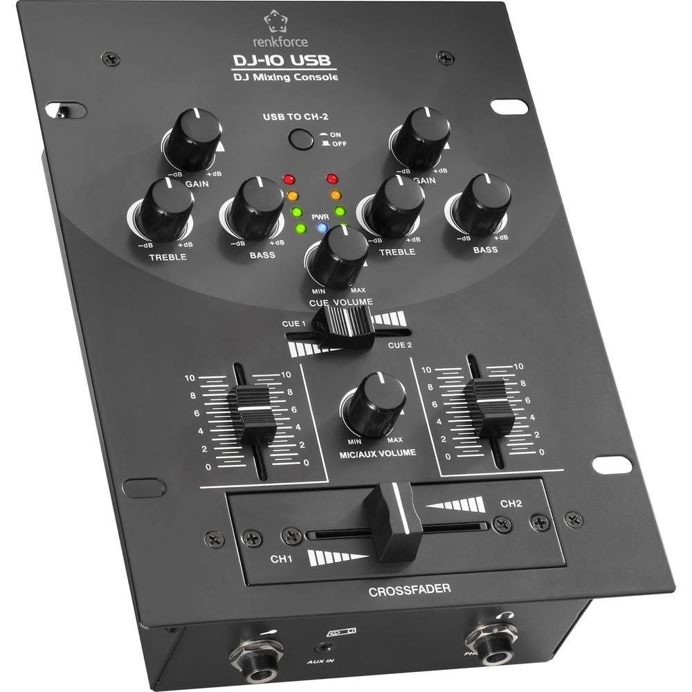 DJ mikseta Renkforce DJ10+USB