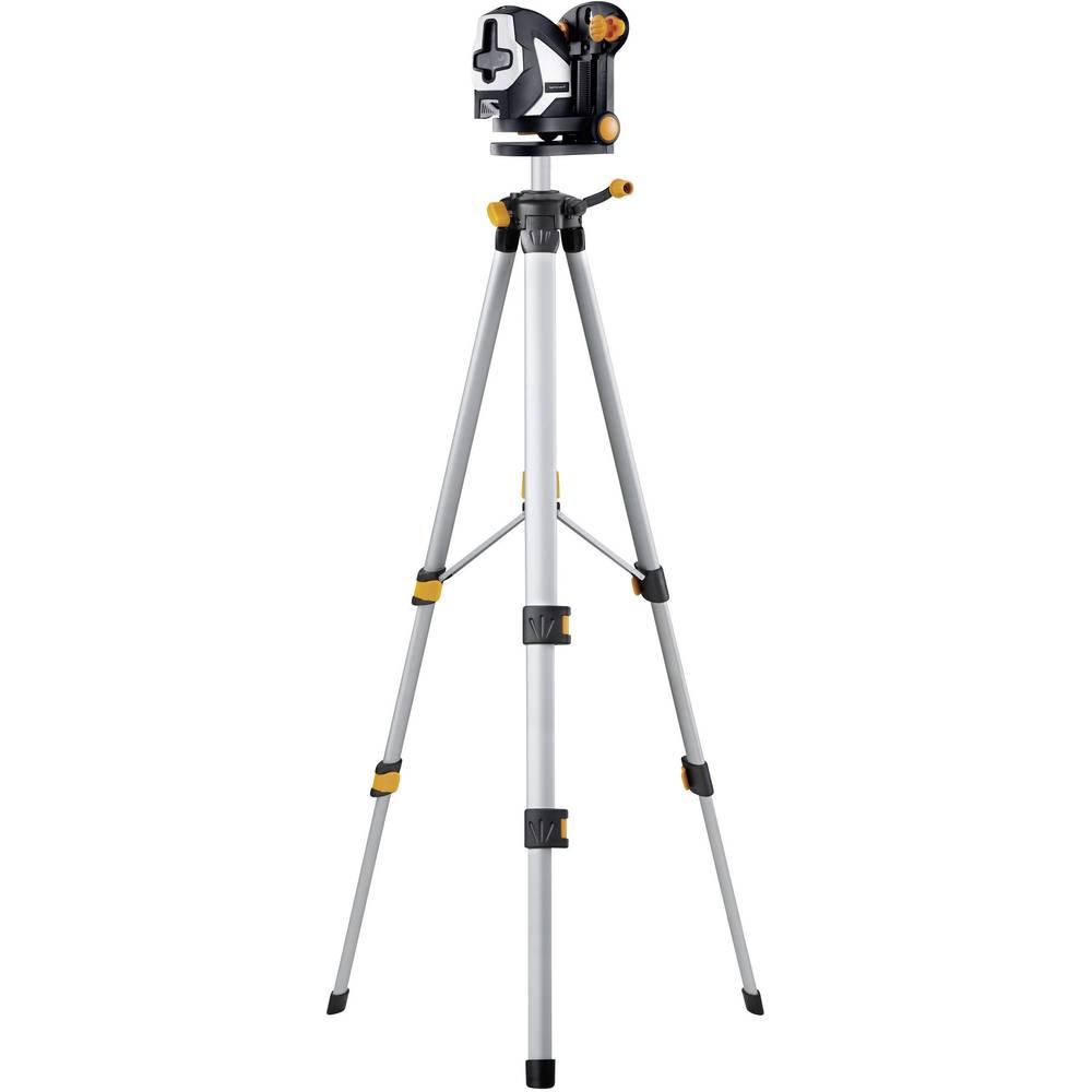 SuperCross laser 2P RX set 150 - komplet križnolinijski laser s podesivim stativom, laserskim prijamnikom i funkcijom mjerenja dubine Laserliner 081.1