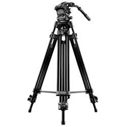 Mantona Dolomit 3100 trinožno stojalo 1/4 colski, 3/8 colski Delovna višina=66 - 136 cm črna