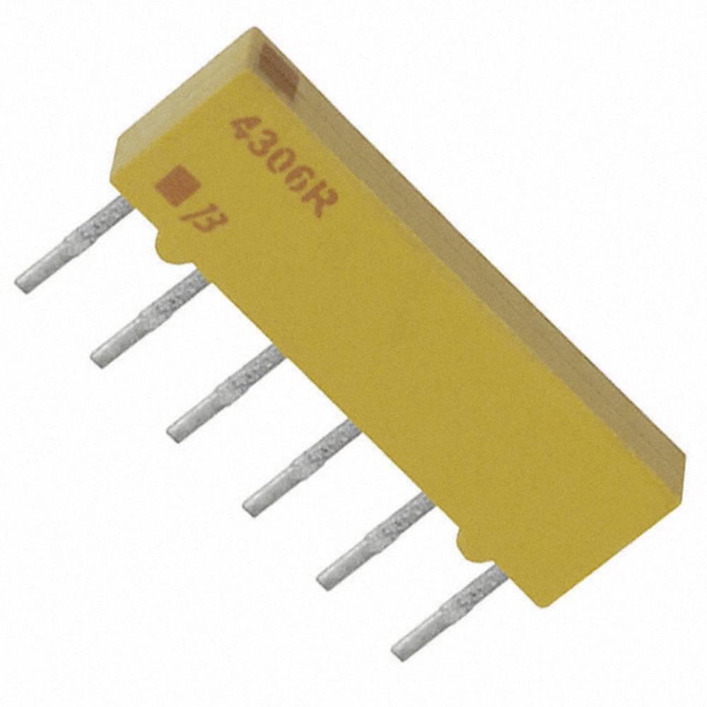 Otporna mreža 10 k radijalno ožičena SIP-6 0.2 W Bourns 4306R-101-103LF 1 kom.