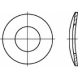 Fjäderbrickor Inre diameter: 8.4 mm DIN 137 Fjäderstål förzinkad 100 st TOOLCRAFT 105927