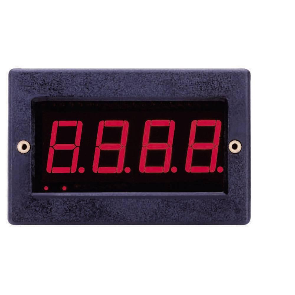 VOLTCRAFT PM 129 vgradni digitalni merilnik z LED prikazovalnikom, vgradne mere 67 x 29 mm