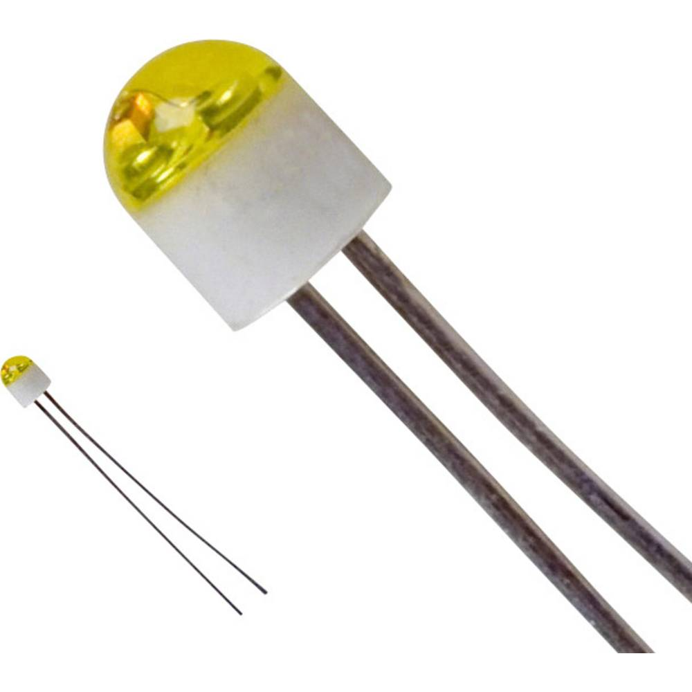 LED bedrahtet (value.1317403) LUMEX 2 mm 6 mcd 160 ° 30 mA 2.1 V Gul