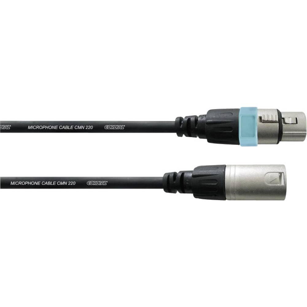 Mikrofonski kabel Cordial, 0,5 m, REAN ženski/moški XLR-konektor, črne barve