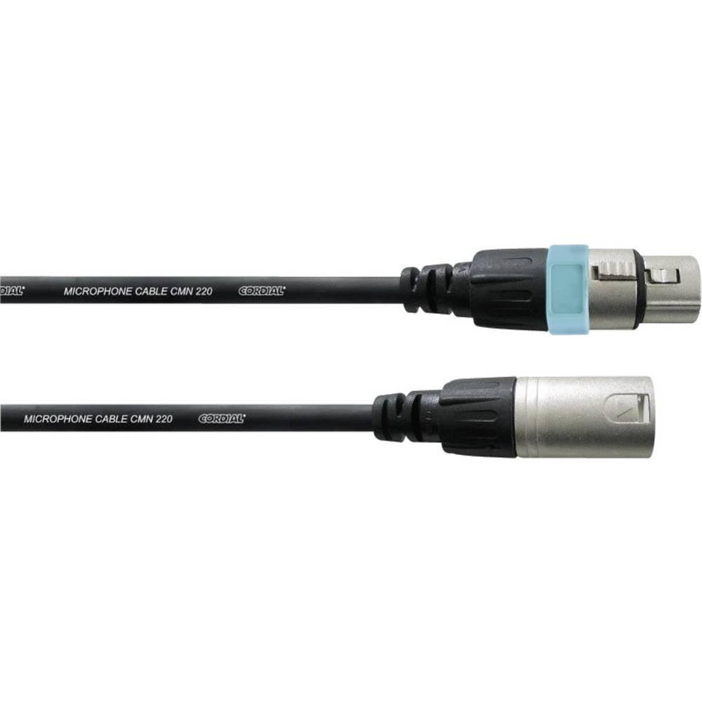 Mikrofonski kabel Cordial 1,5 m, REAN ženski/moški XLR-konektor, črne barve CCM1,5FM