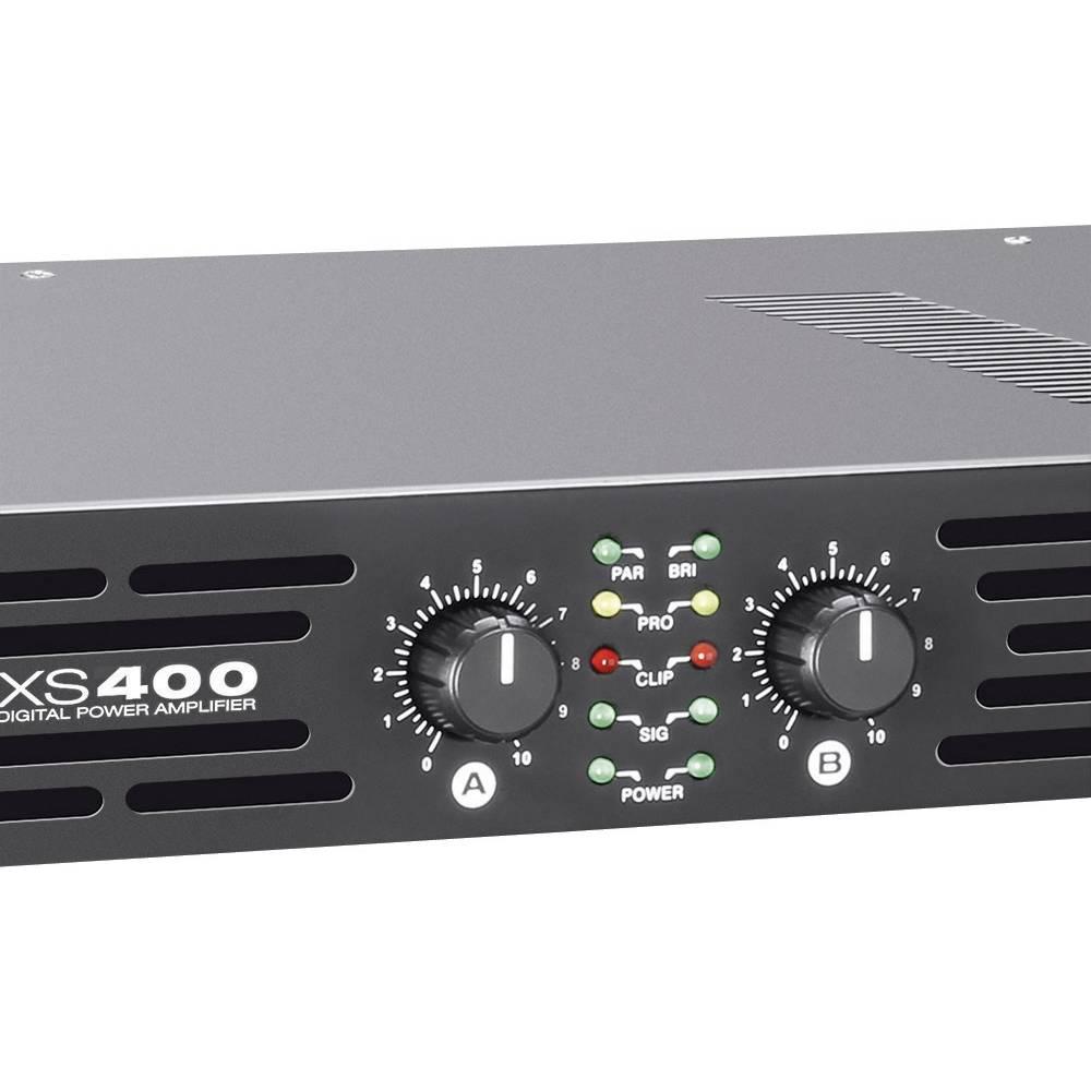 PA končna stopnja LD Systems XS400, 2 x 200/100 W, priključki XLR/banana/Cinch