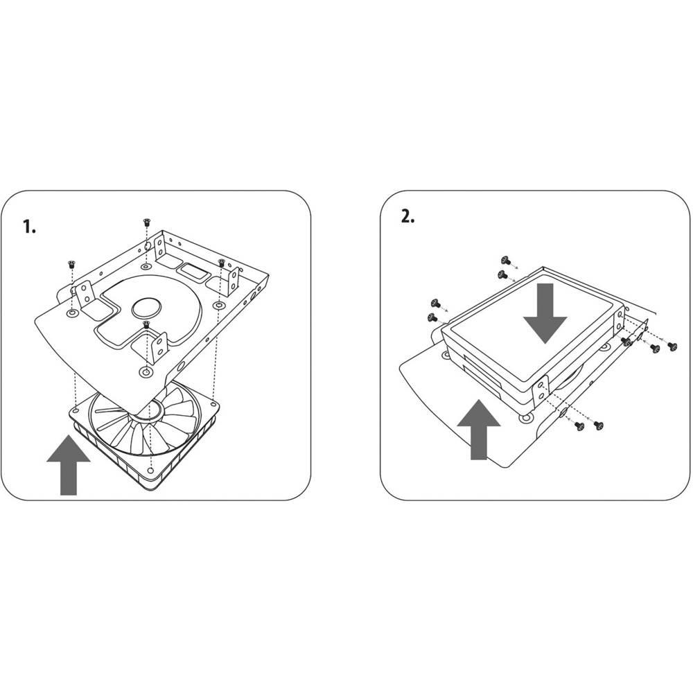 Ohišje trdega diska HDD / SSD Renkforce HDA-259A število trdih diskov (max.): 1 x 2,5 palčni, 3,5