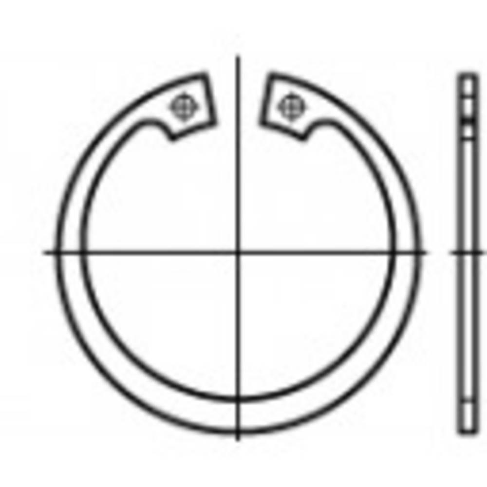 Låsring Inre diameter: 141.6 mm Ytterdiameter: 179.5 mm DIN 472 Fjäderstål 1 st TOOLCRAFT 107903