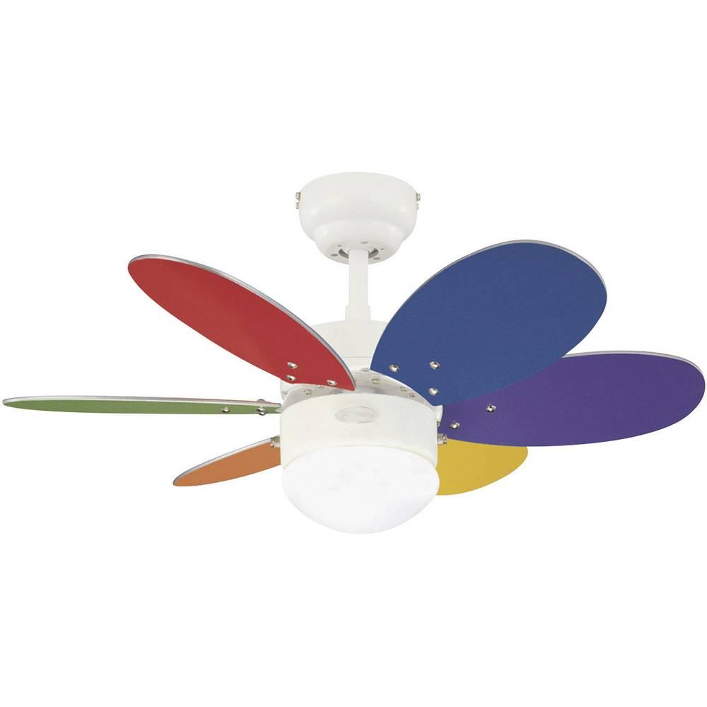 Stropni ventilator Westinghouse Turbo II (premer) 76 cm barva lopatic: barviti, bela, javor, barva ohišja: bela