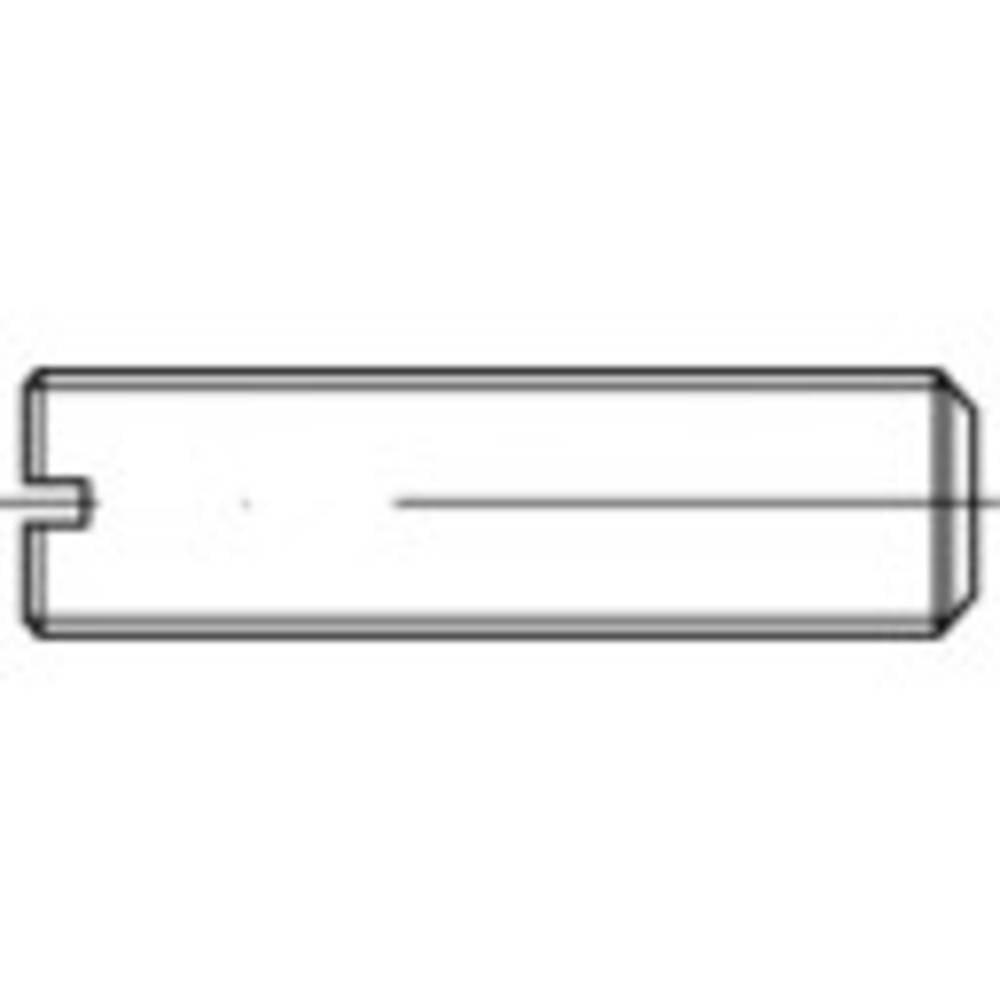 TOOLCRAFT M8 45 mm Spår Stål galvaniskt förzinkad 100 st