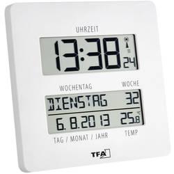 Radijski kontrolirani zidni sat TFA 60.4509.02 27 mm x 195 mm x 195 mm bijele boje