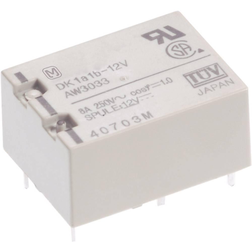 Rele za tiskano vezje 12 V/DC 10 A 1 x zapiralni Panasonic DK1A-12V-F 1 kos